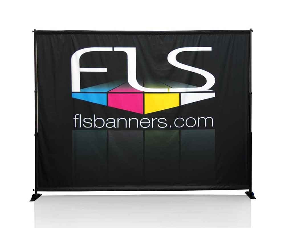 10ft Backdrop & Freestanding Frame - Front View