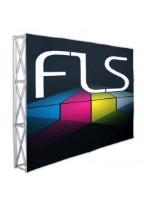 Fabric Popup Display 10ft Straight Frame