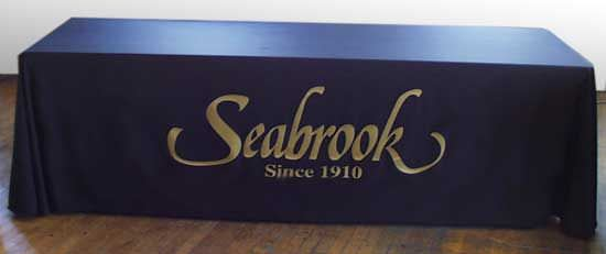 Seabrook Draped 3 Sided Table Cover