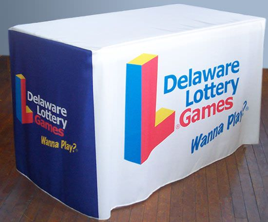 Deleware Lottery, 4 Foot Fitted Table Cover