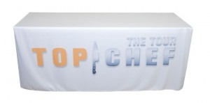 Table covers for large business fairs