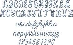 Free Hand Script Embroidered Font Options
