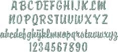 Brody Script Embroidered Font Options