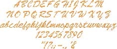 Brush Script Embroidered Font Options